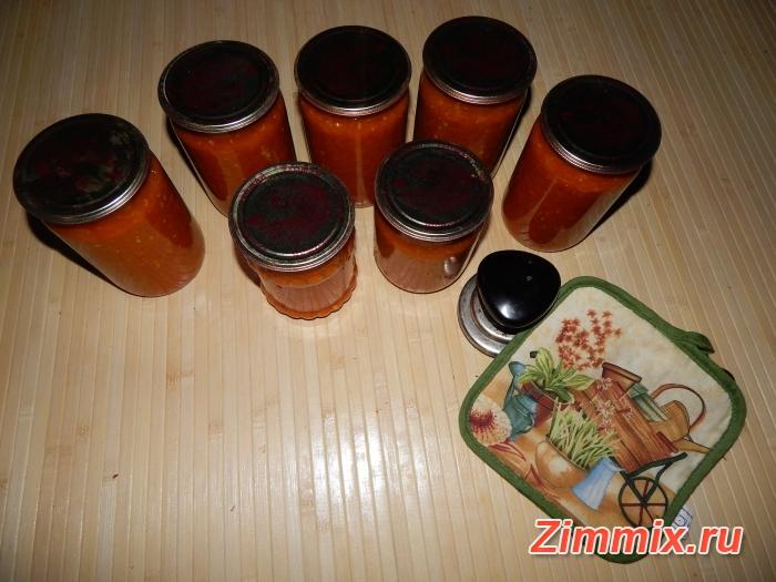 Аджика с яблоками на зиму рецепт с фото - шаг 12