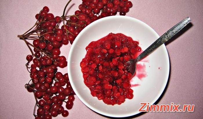 Рецепт красной калины с сахаром на зиму