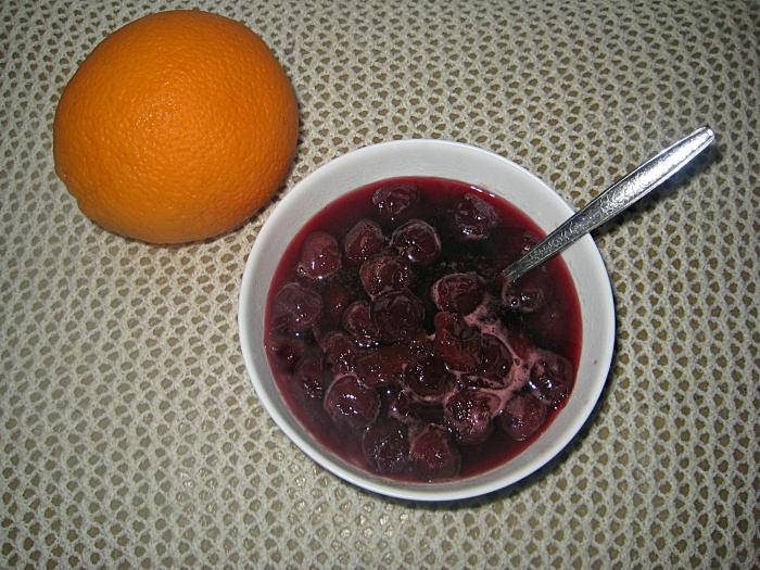 Варенье из черешни без косточки с апельсиновой коркой на зиму