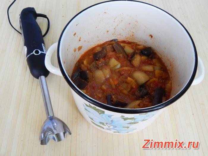 Икра из баклажанов жареная на зиму пошаговый рецепт - шаг 12