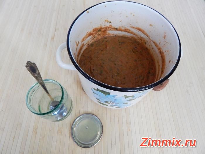 Икра из баклажанов жареная на зиму пошаговый рецепт - шаг 17