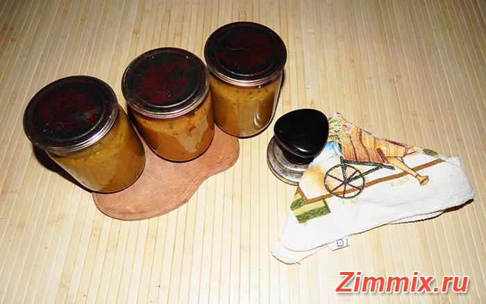 Икра из баклажанов жареная на зиму пошаговый рецепт - шаг 18