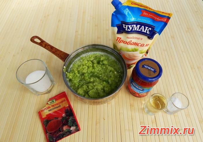 Кабачковая икра с майонезом и чесноком рецепт на зиму - шаг 3