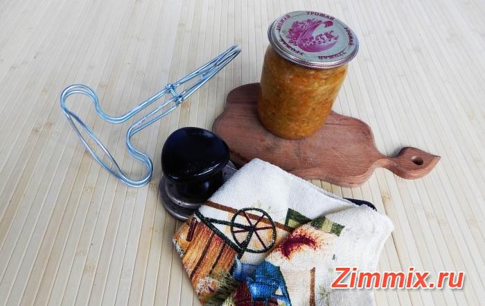 Кабачковая икра с майонезом и чесноком рецепт на зиму - шаг 7