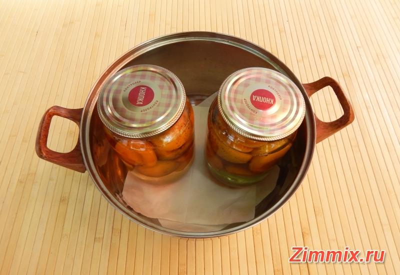 Абрикосы в сиропе на зиму рецепт   - шаг 7