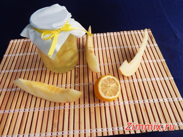 Дынный компот с лимонной кислотой на зиму