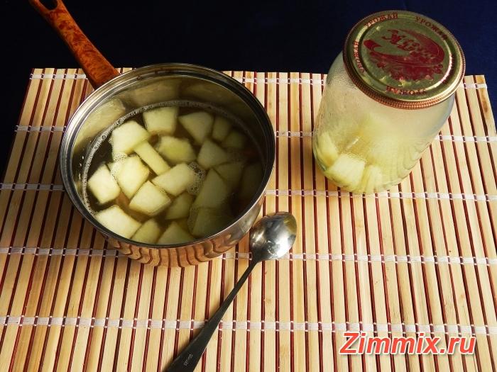 Компот из дыни на зиму пошаговый рецепт с фото - шаг 5