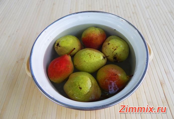 Компот из груш на зиму простой рецепт с фото - шаг 1
