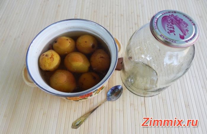 Компот из груш на зиму простой рецепт с фото - шаг 4