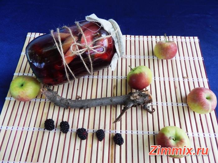 Компот из малины, смородины и яблок на зиму рецепт с фото