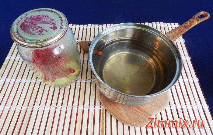 Компот из яблок и калины на зиму рецепт с фото - шаг 10