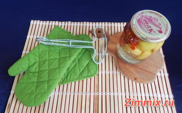 Компот из яблок и калины на зиму рецепт с фото - шаг 12