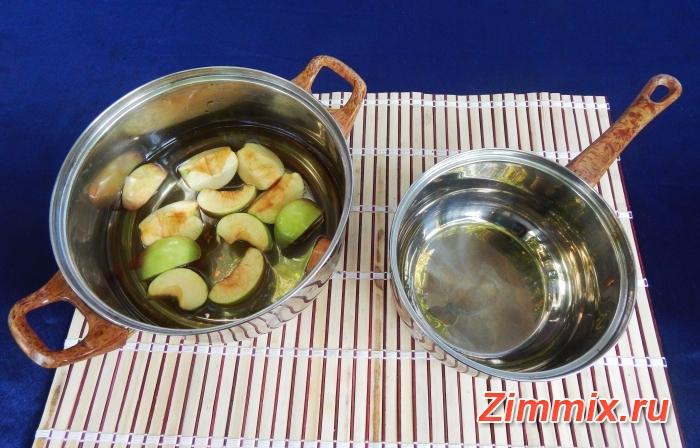 Компот из яблок и калины на зиму рецепт с фото - шаг 4