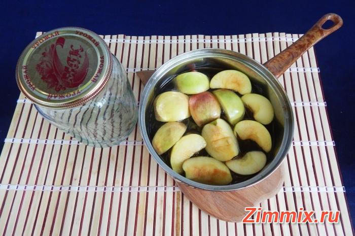 Компот из яблок и калины на зиму рецепт с фото - шаг 9