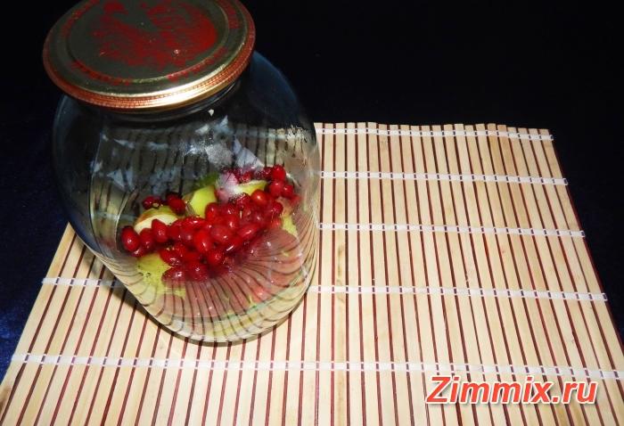 Компот из яблок и кизила на зиму рецепт с фото - шаг 3