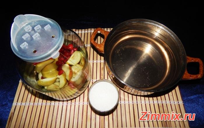 Компот из яблок и кизила на зиму рецепт с фото - шаг 5