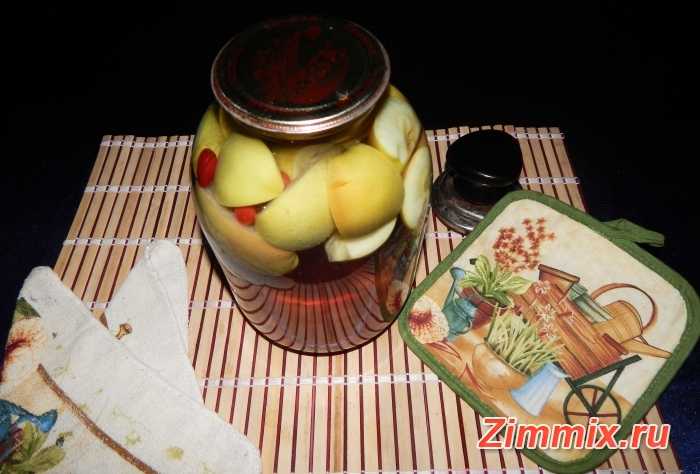 Компот из яблок и кизила на зиму рецепт с фото - шаг 7