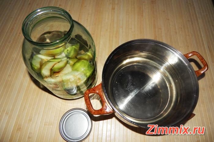 Компот из яблок и мяты на зиму рецепт с фото - шаг 5