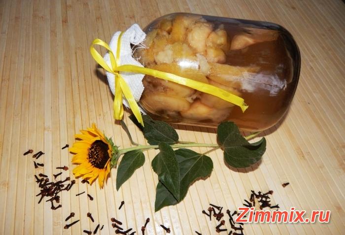 Компот из яблок с ванилью и гвоздикой на зиму пошаговый рецепт с фото