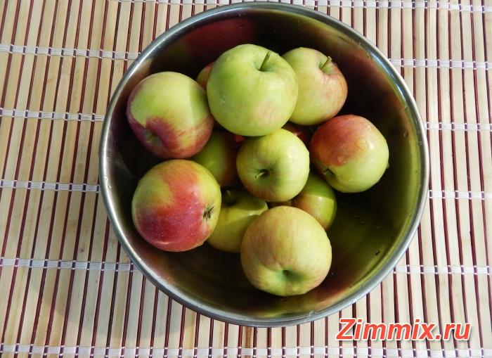 Яблочный компот на зиму пошаговый рецепт - шаг 1