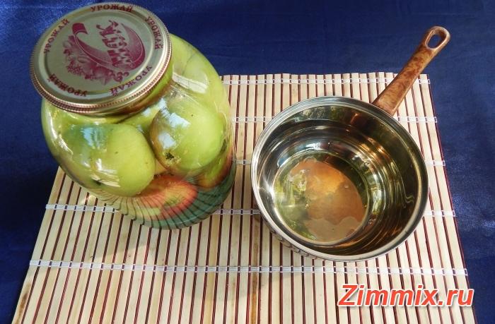 Яблочный компот на зиму пошаговый рецепт - шаг 2