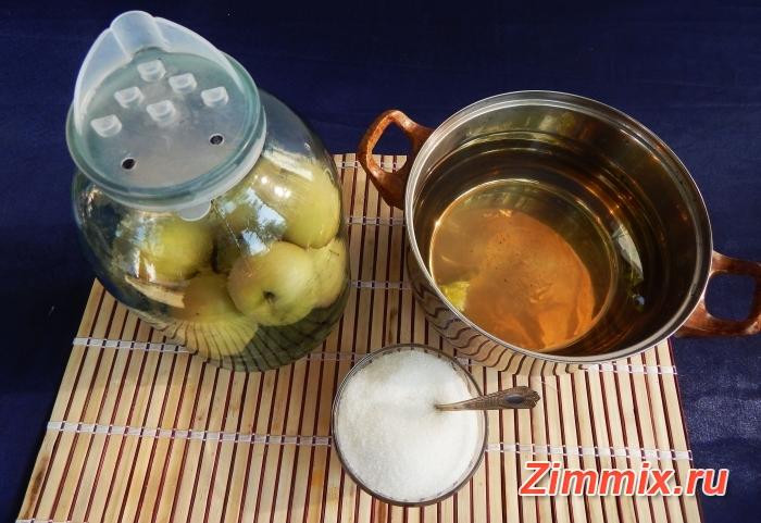 Яблочный компот на зиму пошаговый рецепт - шаг 3