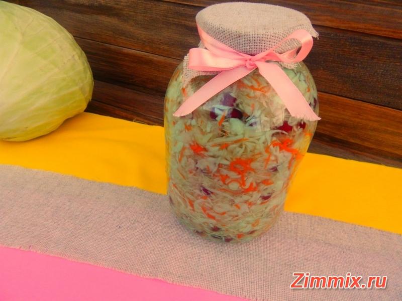 Квашеная капуста на зиму пошаговый рецепт с фото