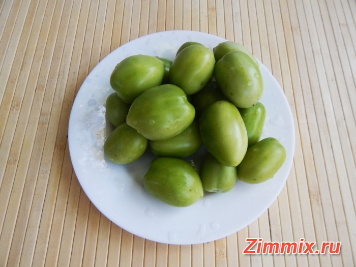 Зелёные помидоры на зиму без стерилизации - шаг 1