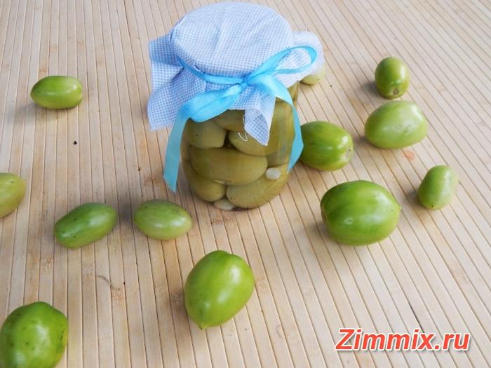 Зелёные помидоры на зиму без стерилизации рецепт с фото