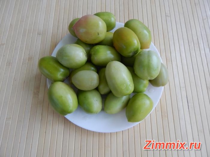 Фаршированные зелёные помидоры на зиму - шаг 1