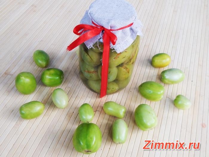 Фаршированные зелёные помидоры на зиму «Тёщины помидорчики»