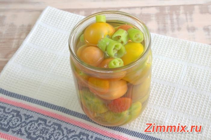 Маринованные помидоры с горчичными семенами на зиму - шаг 3