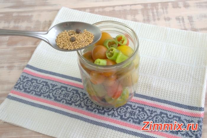 Маринованные помидоры с горчичными семенами на зиму - шаг 5