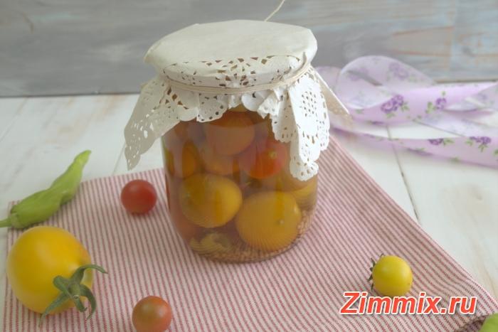Маринованные помидоры с горчичными семенами на зиму - шаг 8