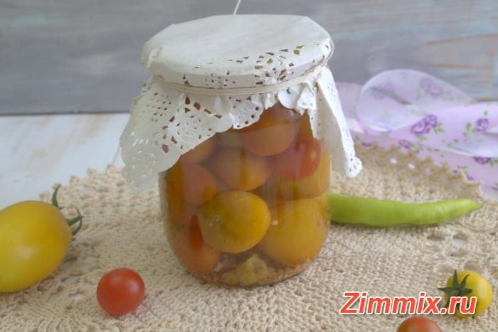 Маринованные помидоры с горчичными семенами и винным уксусом