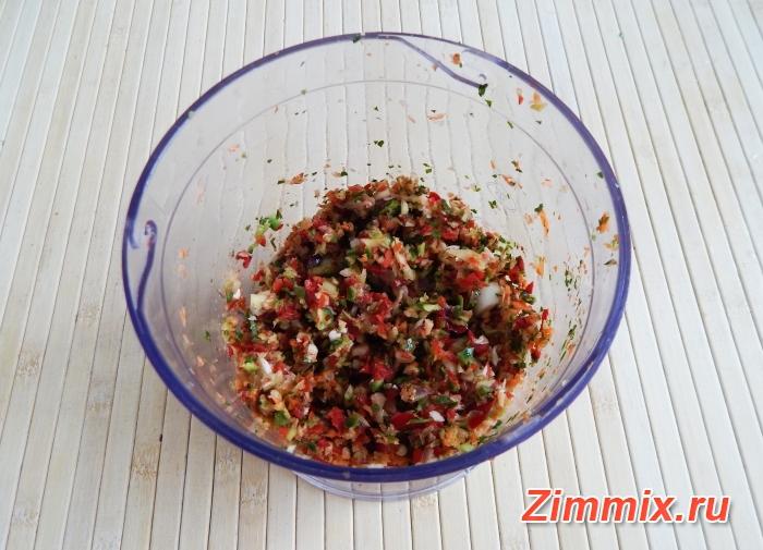 Маринованные зелёные помидоры на зиму с зеленью и чесноком  - шаг 7