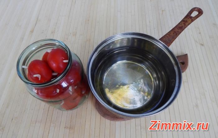 Помидоры с чесноком «Ёжики» на зиму рецепт с фото - шаг 5