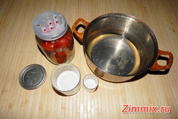 Помидоры с чесноком «Ёжики» на зиму рецепт с фото - шаг 6