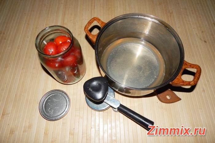 Помидоры с чесноком «Ёжики» на зиму рецепт с фото - шаг 8