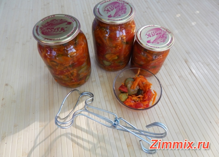 Салат из огурцов, помидор и моркови на зиму - шаг 12