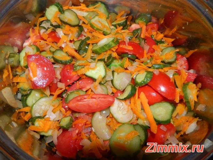 Салат из огурцов, помидор и моркови на зиму - шаг 9