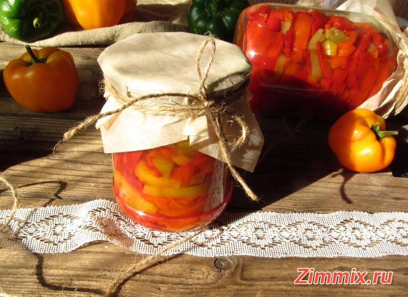 Сладкий перец в остром маринаде на зиму