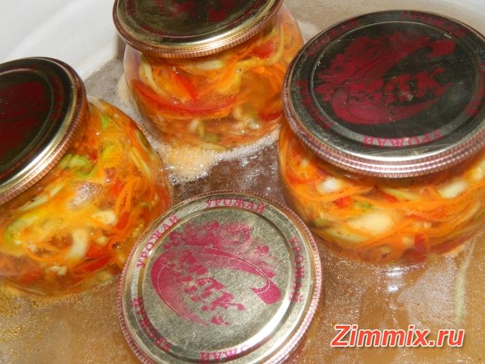 Кабачки по-корейски на зиму рецепт с фото - шаг 11