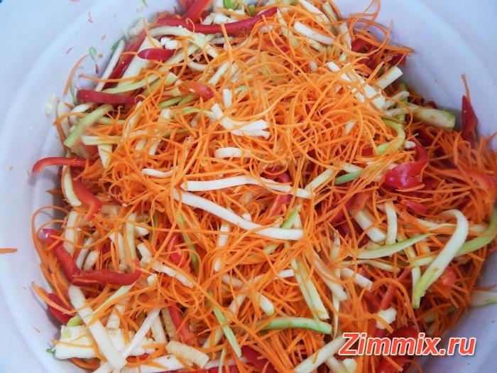 Кабачки по-корейски на зиму рецепт с фото - шаг 7