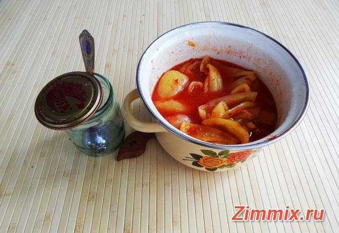 Лечо из болгарского перца на зиму фото рецепт - шаг 12