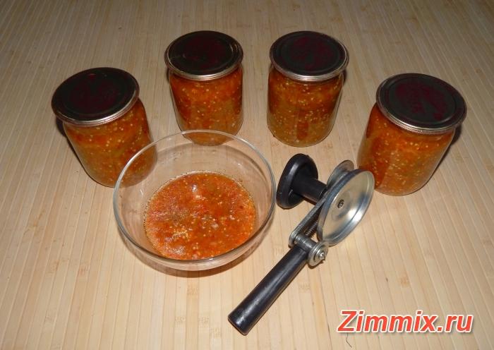 Салат из баклажанов на зиму  пошаговый рецепт  - шаг 13