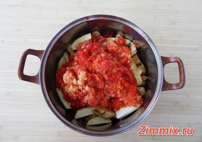 Салат из баклажанов на зиму  пошаговый рецепт  - шаг 6