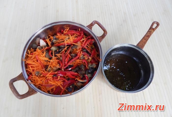 Салат из баклажанов по-корейстки на зиму - шаг 10