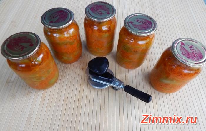 Салат из зелёных помидор дольками на зиму  - шаг 8